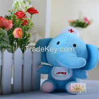 Animal Elephant Soft Fleece Stuffed Children Mini Blue Toys Gifts