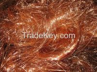 Cable wire and Red copper wire scrap 99.99%