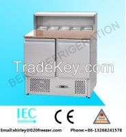 Restaurant Stainless Steel Salad Bar with refrigerant cabinet