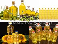 High quality crude and refined sunflower oil, Virgin Olive oil and Soybeans oil.