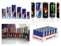 Best Quality and Taste Energy Drinks. Red-bull, Monster, Rock Star, Power Horse