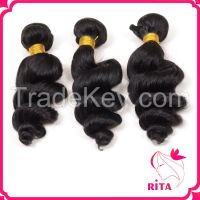 Virgin Brazilian Human Hair Unprocessed Loose wave Hair Weave &Human Hair Extension