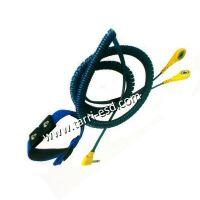 Dual wire ESD wrist strap