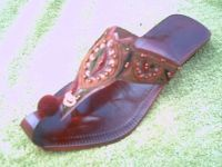 ladies leather chapal beaded khussa slipper fashion shoes beaded pakis