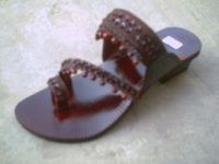 leather chapal khussa slipper
