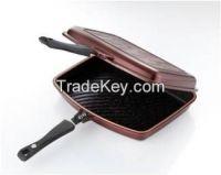 Aluminum die-casting double side pan