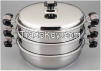 Stainless steel steam pot (2layers/3layers)
