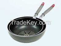 Aluminum press fry pan/ wok pan