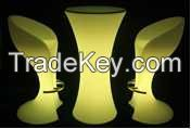PE plastic LED furniture