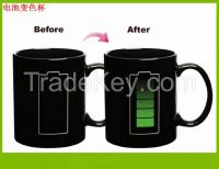 Logo Customized Color Changing Ceramic Mug