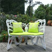 Bistro table & chair in butterfly design made of aluminum