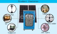 CE RoSH Off grid 10kw commercial solar power system solar plant generator with 12V120AH battery in Anhui