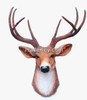 Polyresin Resin Deer Head Wall Hanging