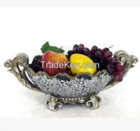 Colored tray Polyresin resin Decorative Fruit Bowl Resin Tray supplier