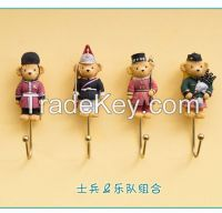 Custom Polyresin resin decorative wall hook