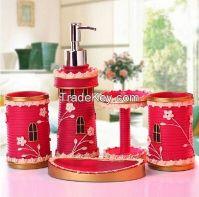Hotel Home Set Polyresin bathroom accessory set