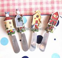 Polyresin tableware cake knife cheese spreader blades