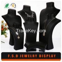 Wholesale Luxury Black Leather Body Jewelry Display Stand