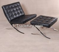 Ludwig Mies Van der Rohe style barcelona chair and ottoman replica manufacturer