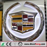 Round vacuum forming Acrylic 3D Illuminated Auto Signage