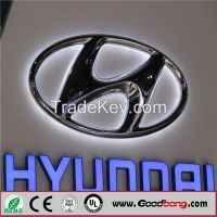 Outdoor Vacuum forming 3D Acrylic Car Logo Sign for Car Dealer Stores