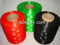 Hot sale, PE/PP flat monfilament,rope for fishing,for warving,colored,used in brarded belt,net,made in china
