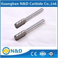 Cylinder end cut tungsten carbide solid burs