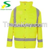 winter warm safety reflective jacket in en-471 standard for guarantee