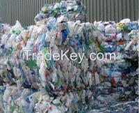 PET bottle scrap in bales