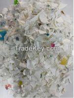 Milk colour HDPE scrap (natural. white color)