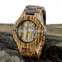 Three Color Wood Wrist Watch for Man 2016 New Arrival Factory Supplier
