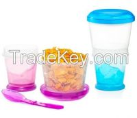 crystal soil double wall cup ice cup