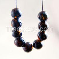 Natural amber beads from Kaliningrad
