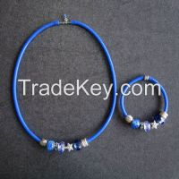 Glass beaded necklace and