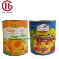 canned yellow peach/canned fruit cocktail in light syrup made in china for export