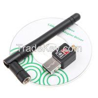 Mini 150M USB WiFi Wireless Network Card 802.11 n/g/b LAN  Adapter with Antenna