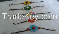 Chinese Traditional Ethnic Turquoise Bracelet