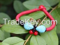 Chinese Traditional Blue Precious Stone Bracelet