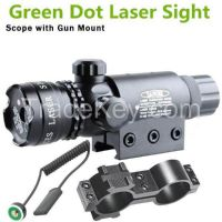 Tactical green beam laser sight with rail mount