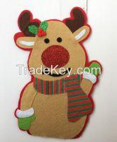 Reindeer Santa Xmas Decoration Christmas Door Hanger Hanging