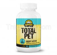 TOTAL PET SUPPORTS OVERALL WELLNESS FOR DOGS (Beef Liver Flavour) 90 Chewable Tablets