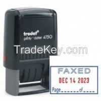 TRODAT 4750 FAXED WITH DATE