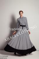 2015 new fashion european style lady skirt long tunic