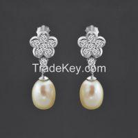 double pearl earrings,daily wear earrings !