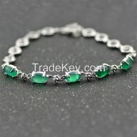 Fashion 925 sterling silver inlaid cubic zirconia charm bracelets