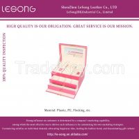 High-end Leather Jewelry Drawer Box