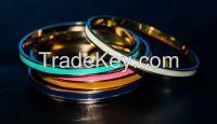 high quality metal gold plated bangle bracelet
