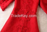 Polyester jacquard fabric for women's dress