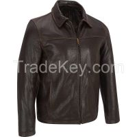 Classic jacket for men genuine leather jacket perfect gift men's classic jacket