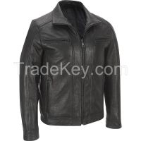 Genuine Lamb leather jacket for men perfect gift men's jacket real lamb leather
